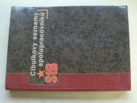 Cibulkovy seznamy spolupracovníku StB (nedatováno)