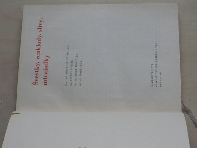 Švestky, renklody, slívy, mirabelky (1963)