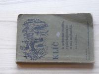 Polívka - Klíč k určování rostlin (Promberger Olomouc 1936)