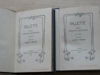 Brontëová - Villette I. II. (Laichter Praha 1908) 2 knihy