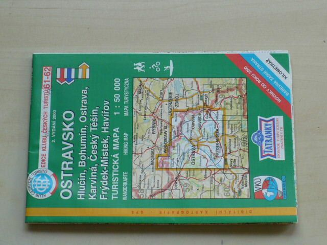 Mapa 1 50000 Kct 61 62 Ostravsko 2000 Hlucin Bohumin Ostrava