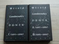 Gombrowicz - Deník I. II. III. (1994) 2 knihy