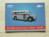 90 let městské autobusové dopravy v Olomouci 1927-2017 + Přehled vozidel 1927-2017