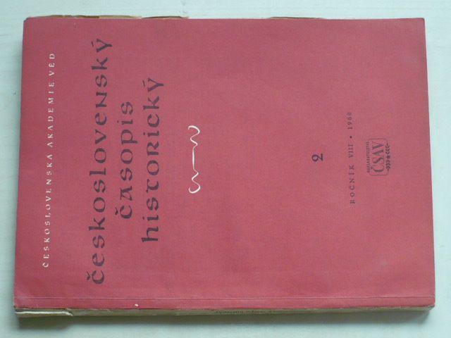 Československý časopis historický 1-6 (1960) ročník VIII. (chybí čísla 1 a 4, 4 čísla)
