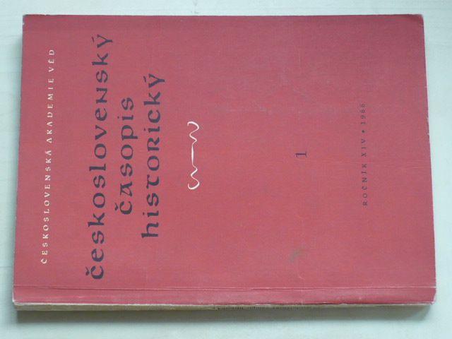 Československý časopis historický 1-6 (1966) ročník XIV.