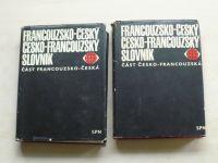 Buben - Francouzsko-český / česko-francouzský slovník (1971) díl 1 a 2