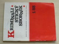 Kriminalistický sborník 1-12 (1988) ročník XXXII. (chybí čísla 4, 10-12, 8 čísel)