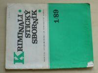 Kriminalistický sborník 1 (1989) ročník XXXIII.