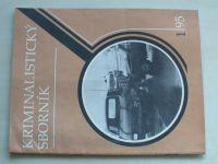 Kriminalistický sborník 1 (1995) ročník XXXIX.
