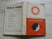 Karel Čapek - Kalendář (Jak je rok dlouhý) Borový 1940, ob. Fr. Muziky