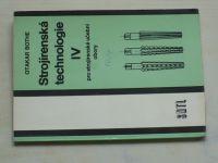 Bothe - Strojírenská technologie pro strojírenské učební obory IV. (1989)