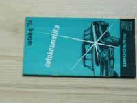 Drogerie - autokosmetika, Katalog 1974