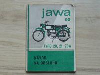JAWA 50 - Type 20, 21, 23A - Návod na obsluhu (6. vydání) slovensky