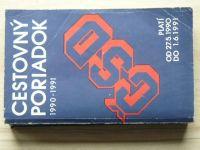 Cestovný poriadok ČSD 1990-1991