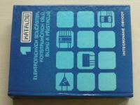 Katalog elektronických součástek, konstrukčních dílů, bloků a přístrojů 1-5 (1986-89) 5 knih