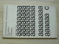 Jan Amos Komenský - Živá tiskárna aneb lis myšlenky (1968) Typographeum vivum