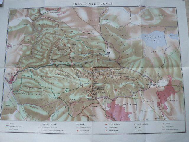 Prachovske Skaly Turisticka Mapa 1955