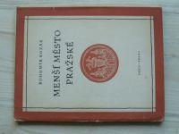 Kozák - Menší Město Pražské (Orbis 1950) 51 kreseb, úv. slovo Wirth