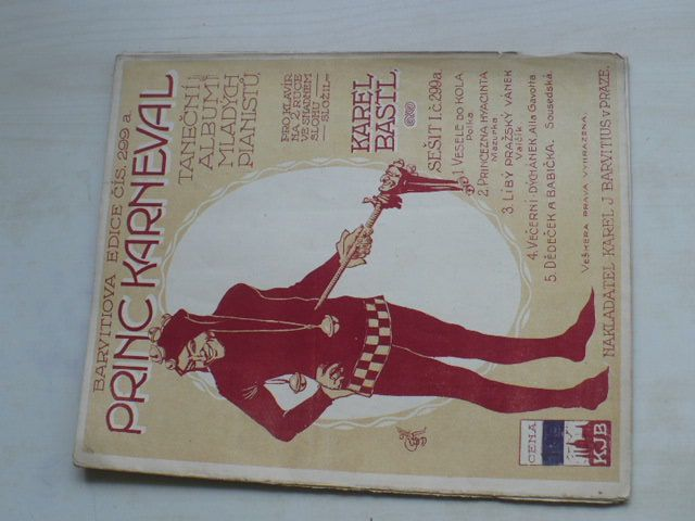 Barvitiova edice č. 299 - Princ Karneval - Taneční album mladých klavíristů (1917)