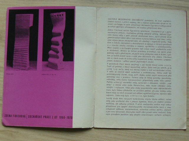 Zdena Fibichová - Moravská galerie Brno 1970 - katalog výstavy