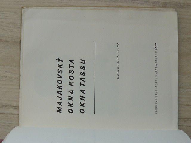 Koťátková - Vladimír Majakovský, OKNA ROSTA, OKNA TASSU (1945)