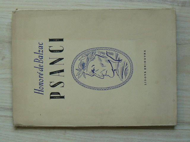 Honoré de Balzac - Psanci - Filosofická studie (1949)