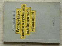 Kolaříková - Perspektivy teorie a výzkum osobnostních vlastností (1986)
