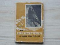 Arno Puškáš - Horolezecké výstupy vo Vysokých Tatrách 1945-1953 (1954) slovensky