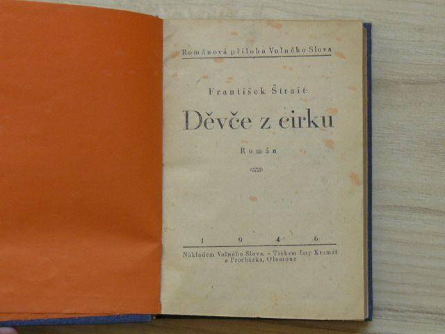 Štrait - Děvče z cirku (Volné slovo Olomouc, 1946 - Románová příloha)