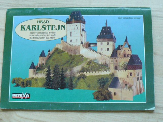Hrad Karlštejn 1:350 - papírový model, BETEXA 2006