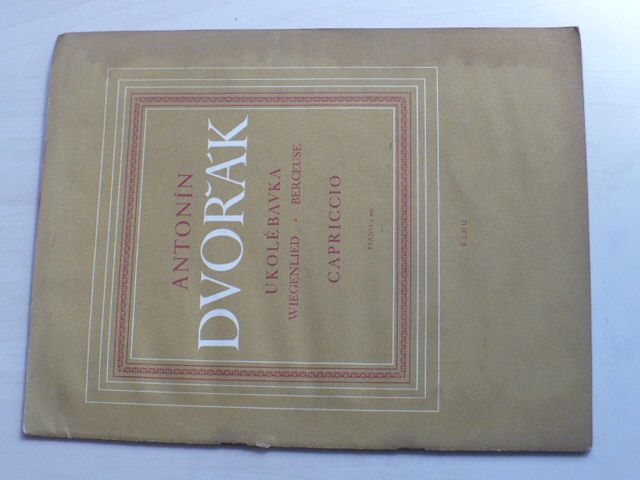 Antonín Dvořák - Ukolébavka - Capriccio - piano 2 ms - Kritické vydání podle skladatele (1959)