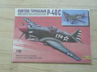 Curtiss Tomahawk P-40 C - Papírová stavebnice vystřelovacího kluzáku 1/35