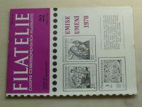 Filatelie 22 (1978) ročník XXVIII.