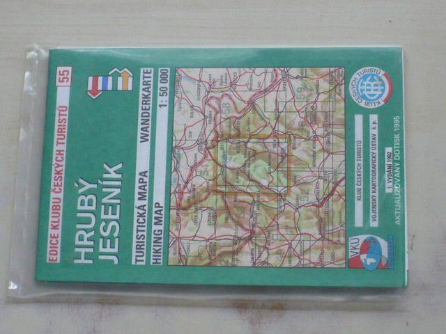Turistická mapa 1 : 50 000 KČT 55 - Hrubý Jeseník (1992)