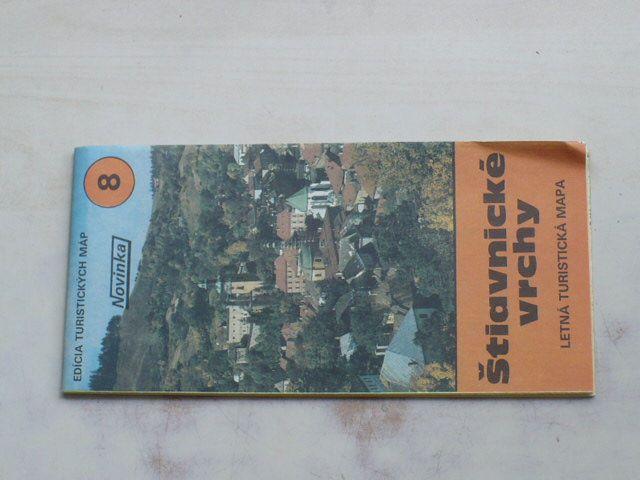 Edícia turistických máp č.8 - 1 : 100 000 - Štiavnické vrchy - Letná turistická mapa (1985)