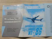 Aeroflot - IL-86 - prospekt, rusky