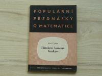 Vyšín - Lineární lomená funkce (1958) Populární přednášky o matematice