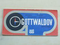 Automapa 18 - 1 : 200 000 - Gottwaldov (1971)