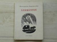 Paustovskij - Lermontov (1956) dřevoryty Šimon