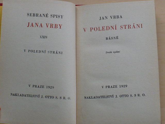 Vrba - V polední stráni (1929)