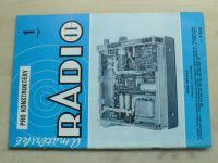 Amatérské radio pro konstruktéry 1 (1985) ročník XXXIV.