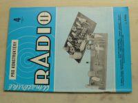Amatérské radio pro konstruktéry 4 (1983) ročník XXXII.
