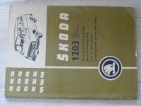 Škoda 1203 - Seznam náhradních dílů (1969-1970)