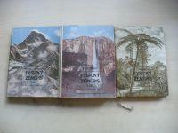 Vitásek - Fysický zeměpis I. II. III. (1953 - 1955) 3 knihy