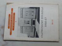 Programový list KOD 10 - 11 - Olomoucké divadlo 1956 - 1957