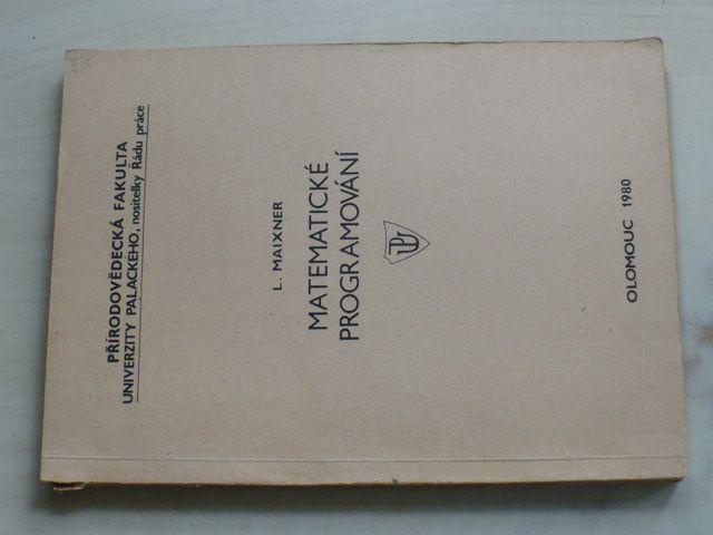Maixner - Matematické programování (1979)
