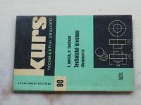 Kurs 90 - Novák, Šimůnek - Technické kreslení (Strojnictví I) (1963)