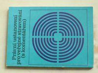Právní ustanovení pro veřejné stravování ( s komentářem ) (1987)