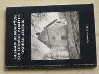 Seznam nemovitých kulturních památek okresu Jeseník (2001)