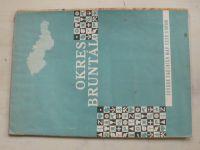 Soubor školních map ČSSR 1 : 100 000 - Okres Bruntál (1968)